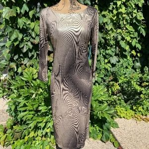NWY ALICE + OLIVIA Metallic Dress, L